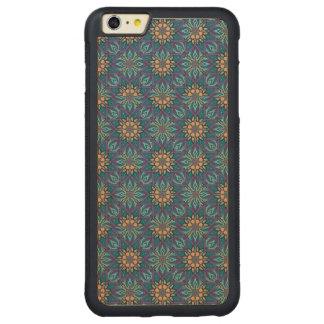 Funda Protectora De Arce Para iPhone 6 Plus De Car Modelo floral del extracto de la mandala
