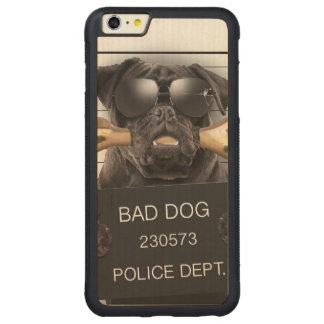 Funda Protectora De Arce Para iPhone 6 Plus De Car Perro del Mugshot, barro amasado divertido, barro
