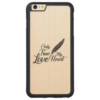 Funda Protectora De Arce Para iPhone 6 Plus De Car Pluma verdadera del amor del ilustracion