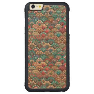 Funda Protectora De Arce Para iPhone 6 Plus De Car Remiendo del vintage con los elementos florales de