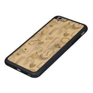 Funda Protectora De Arce Para iPhone 6 Plus De Car Tabla amarilla de la vanidad