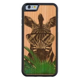 Funda Protectora De Cerezo Para iPhone 6 De Carved Animal del estilo de la cebra del inconformista
