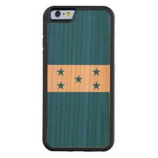 Funda Protectora De Cerezo Para iPhone 6 De Carved Bandera de Honduras