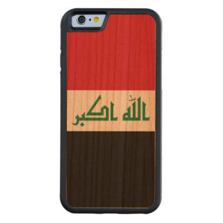 Funda Protectora De Cerezo Para iPhone 6 De Carved Bandera de Iraq