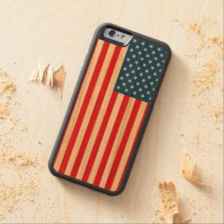 Funda Protectora De Cerezo Para iPhone 6 De Carved Barras y estrellas de la bandera de los E.E.U.U.