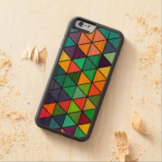 Funda Protectora De Cerezo Para iPhone 6 De Carved Caja colorida del iPhone del modelo de los