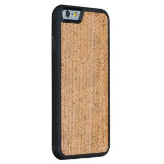 Funda Protectora De Cerezo Para iPhone 6 De Carved Caja de madera del teléfono de la impresión floral