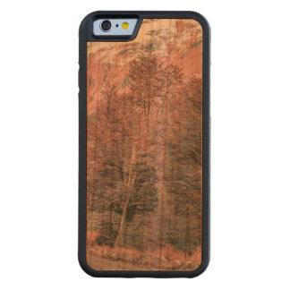 Funda Protectora De Cerezo Para iPhone 6 De Carved Camino vacío de la grava - Parque Nacional Los