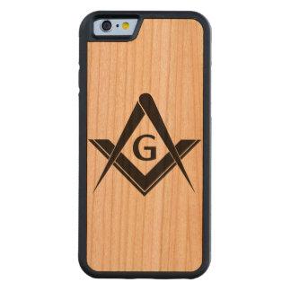 Funda Protectora De Cerezo Para iPhone 6 De Carved Caso del Freemason