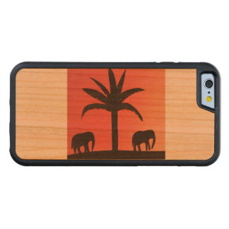 Funda Protectora De Cerezo Para iPhone 6 De Carved caso del iphone con diseño del elefante