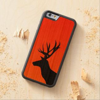 Funda Protectora De Cerezo Para iPhone 6 De Carved Ciervos en la puesta del sol