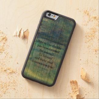 Funda Protectora De Cerezo Para iPhone 6 De Carved Cita IDEAL inspirada