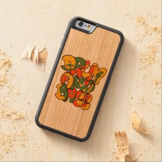 Funda Protectora De Cerezo Para iPhone 6 De Carved color del reggae del tambor y del bajo - logotipo,