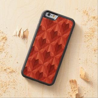Funda Protectora De Cerezo Para iPhone 6 De Carved Corazón del polígono