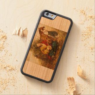 Funda Protectora De Cerezo Para iPhone 6 De Carved Cossack Mamai IPhone de Kozak y caja de madera de