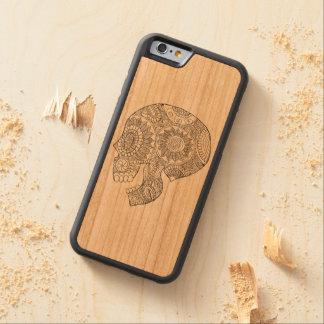 Funda Protectora De Cerezo Para iPhone 6 De Carved Día mexicano de Calavera del cráneo muerto del