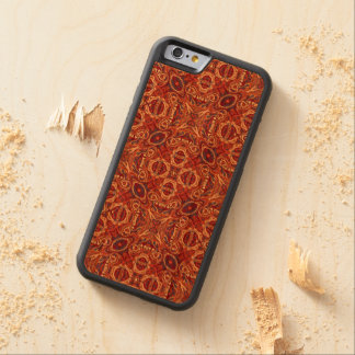 Funda Protectora De Cerezo Para iPhone 6 De Carved Diseño rizado dibujado mano colorida abstracta del
