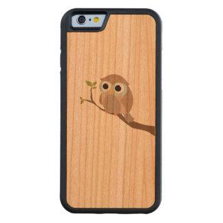 Funda Protectora De Cerezo Para iPhone 6 De Carved edulcora en madera impreso lechuza