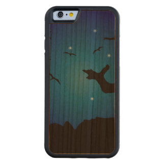 Funda Protectora De Cerezo Para iPhone 6 De Carved Ejemplo del paisaje de Nightscape