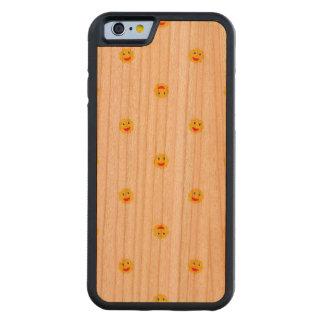 Funda Protectora De Cerezo Para iPhone 6 De Carved El adorno feliz de Sun embroma el modelo