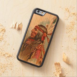 Funda Protectora De Cerezo Para iPhone 6 De Carved Jefe de Gros Ventre: Lobo magro