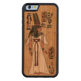 Funda Protectora De Cerezo Para iPhone 6 De Carved Jeroglífico faraónico del papiro egipcio antiguo