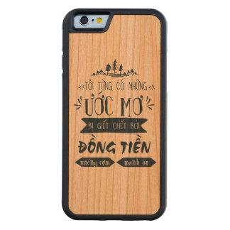 Funda Protectora De Cerezo Para iPhone 6 De Carved Lưng Việt Nam de Ốp