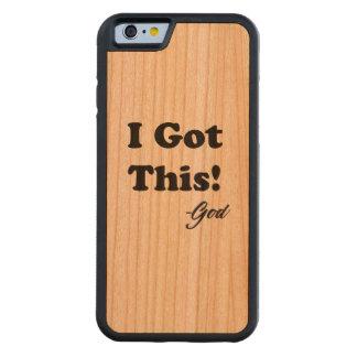 Funda Protectora De Cerezo Para iPhone 6 De Carved Mensaje de dios