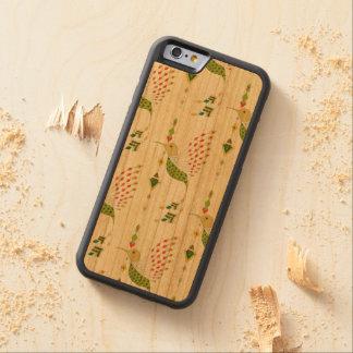 Funda Protectora De Cerezo Para iPhone 6 De Carved Pájaro azteca tribal étnico del vintage