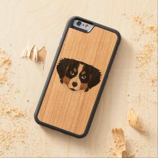 Funda Protectora De Cerezo Para iPhone 6 De Carved Perro de montaña de Bernese del ilustracion