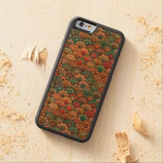 Funda Protectora De Cerezo Para iPhone 6 De Carved Remiendo del vintage con los elementos florales de