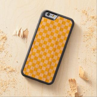 Funda Protectora De Cerezo Para iPhone 6 De Carved Tablero de damas amarillo
