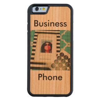 Funda Protectora De Cerezo Para iPhone 6 De Carved Teléfono del ópalo del negocio de Ellyse