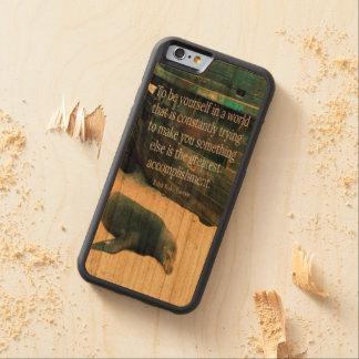 Funda Protectora De Cerezo Para iPhone 6 De Carved Tema inspirador de la playa de la cita de la vida