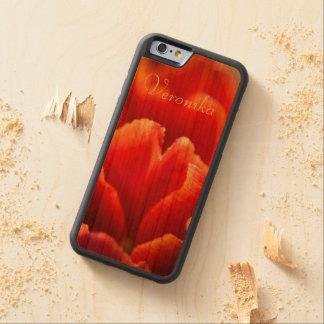 Funda Protectora De Cerezo Para iPhone 6 De Carved Tulipán rojo