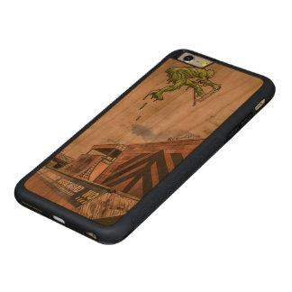 Funda Protectora De Cerezo Para iPhone 6 Plus De C caja de madera de la cereza de parachoques del