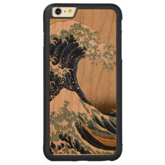 Funda Protectora De Cerezo Para iPhone 6 Plus De C Gran onda restaurada de Kanagawa por Hokusai