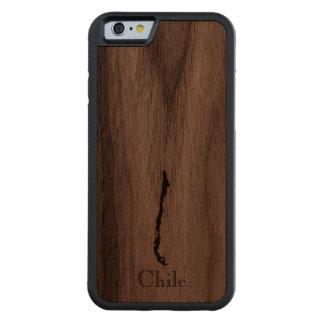 Funda Protectora De Nogal Para iPhone 6 De Carved Mapa de Chile: Diseño clásico
