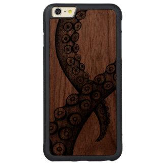 Funda Protectora De Nogal Para iPhone 6 Plus De Ca Caso del iPhone del brazo del pulpo