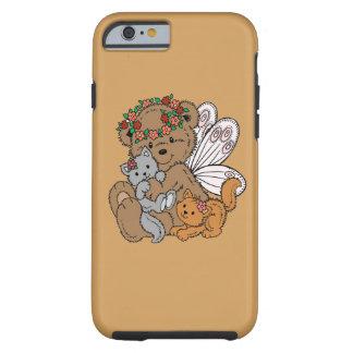 Funda Resistente iPhone 6 Ángel del oso con los gatitos