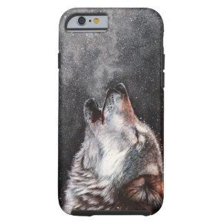 Funda Resistente iPhone 6 Arte del lobo - lobo del grito - pintura del lobo