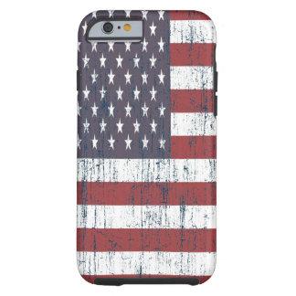 Funda Resistente iPhone 6 Bandera americana 6 del vintage
