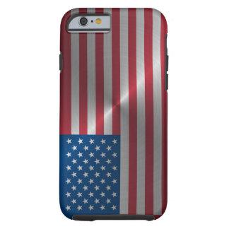 Funda Resistente iPhone 6 Bandera brillante de los E.E.U.U. del acero