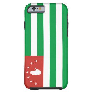 Funda Resistente iPhone 6 Bandera nacional del mundo de Abjasia