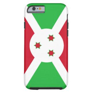 Funda Resistente iPhone 6 Bandera nacional del mundo de Burundi