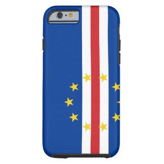 Funda Resistente iPhone 6 Bandera nacional del mundo de Cabo Verde