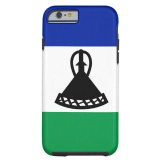 Funda Resistente iPhone 6 Bandera nacional del mundo de Lesotho