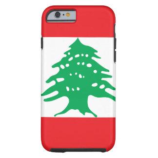 Funda Resistente iPhone 6 Bandera nacional del mundo de Líbano