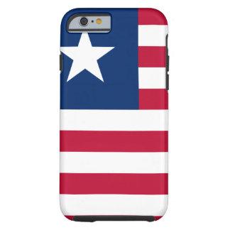 Funda Resistente iPhone 6 Bandera nacional del mundo de Liberia
