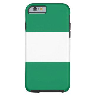 Funda Resistente iPhone 6 Bandera nacional del mundo de Nigeria